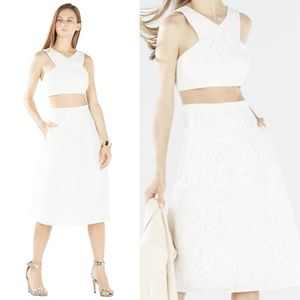 BCBG Ellyson 2pc Embroidered Lace Dress - Sz. L